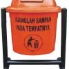 TEMPAT SAMPAH FIBERGLASS BULAT 1