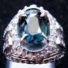 BATU PERMATA UNHEATED BLUE SAFIR ANTIK ( Code : SPR0107 )