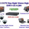 Paket CCTV 4 Camera Day Night Vision High Resolution