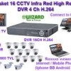Paket CCTV 16 Camera CCD Sony SuperHad CCDII dan Effio 600 TVL Infra Red