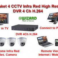 Paket Camera 4 CCTV High Res 700 TVL Made in Taiwan