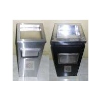 tempat sampah stainless | kotak sampah stainless | standing ashtray