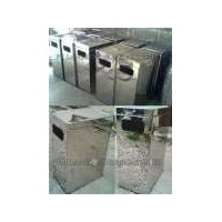 Tempat Sampah Stainless Kotak | Tong Sampah Stainless Kotak