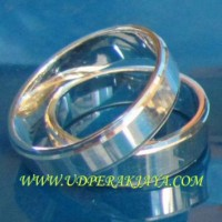 cincin couple perak lapis emas putih rhod.41