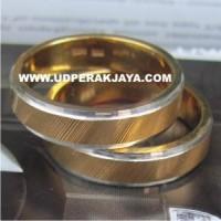 cincin kawin perak sepuh emas kuning cs.37