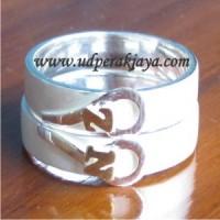 cincin couple perak simbol hati el.18