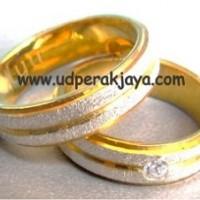 cincin kawin perak sepuh emas kuning cs.20