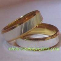 cincin kawin perak sepuh emas kuning cs.27