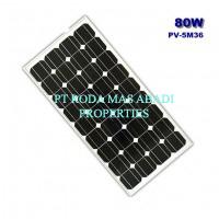 Solar Panel 80 WP MonoCrystalline Modul Surya
