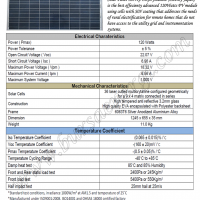 Solar Panel 120Wp Polycrystalline
