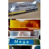 NPH, Name Plate Holder, Nama Meja, NPH Alumunium