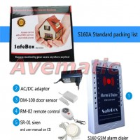 Wired dan Wirelss Paket GSm Alarm S160