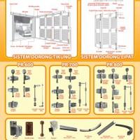 Kunci Pintu, Engsel Pintu, Rel & Komponen Komponen Pintu Garasi