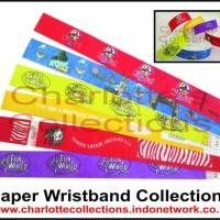 wristband/ waterproof paper wristband/ gelang kertas/ gelang kertas anti air/ gelang promosi/ gelang