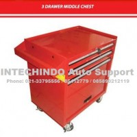 3 Drawer Middle Chest / Tool Caddy 3 Drawer / Tool Trolley 3 Susun