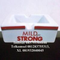 Asbak keramik Kotak Mild Strong