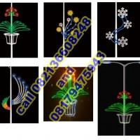 Lampu Hias Tiang PJU Motif Bunga