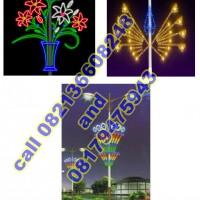 Lampu Hias Tiang PJU Motif 9