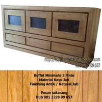 Mebel Meja TV Jati Furniture Jepara
