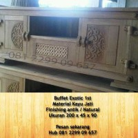 mebel jati mebel buffet jati furniture jepara buffet exotic jati mebel jepara