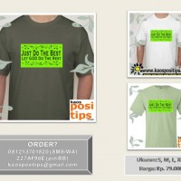 "kaos|T-shirt Motivasi ""Just do The Best"""