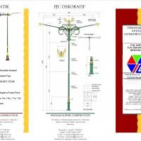 Paket Tiang PJU Dekoratif dan Tiang PJU Antik