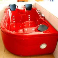 2 Two Person Jacuzzi Whirlpool Massage Hydrotherapy Red