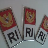 Emblem bendera RI merah putih untuk plat nomor