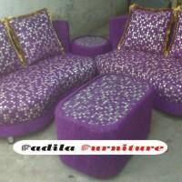 Sofa Minimalis Kacamata 2.2 Puff Meja   Kode: FFSOFA66