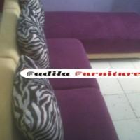 Sofa Minimalis L Type 1.1 Slonjor Full Bludru Hennesy