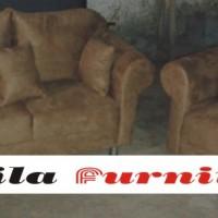 Sofa Minimalis Tangan P type 2.1 Bludru Suede