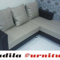 Sofa Minimalis L Full Oscar Jahitan Benang Besar