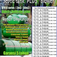 Bio septictank + Blower (IPAL Biofilter Semi Aerob), by BioSeven (BFH-B series)