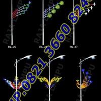 Lampu Hias Dekoratif Tiang PJU RL 25 - RL 30