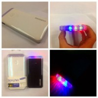 power bank slim 6000 mah lampu disco