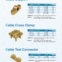 CABLE CLAMP & CABLE SUPPORT