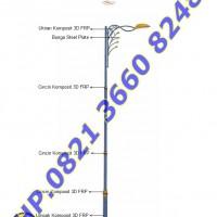 Tiang Lampu RLJA Seri 03 Ornament FRP dan Plat Steel