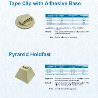 TAPE CLIP WITH ADHESIVE BASE
