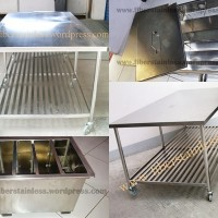Meja Dapur stainless,Grease Trap stainless,Meja stainless,Alat penyaring lemak stainless.WWork Table