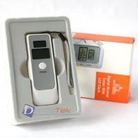 LCD Digital Alcohol Tester Breathalyser with Clock