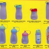 botol kecap, botol air minum, botol saus