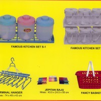 wadah bumbu - gantungan plastik - jepitan - keranjang plastik