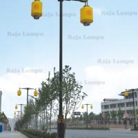 Tiang Lampu PJU Antik Motif Lampion