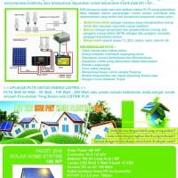 SOLAR CELL HOME SYSTEM SURYA PAKET SHS / RAKITAN SOLAR CELL TERMURAH DISELURUH INDONESIA