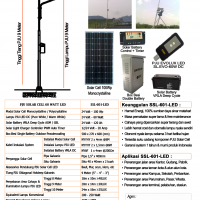 PJU Solar Cell 60 Watt LED
