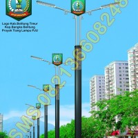 Tiang Lampu PJU LED Logo Kabupaten Belitung Timur