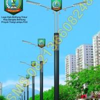 Tiang Lampu PJU Logo Kabupaten Belitung Timur