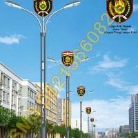 Tiang Lampu PJU Logo Kabupaten Ngawi
