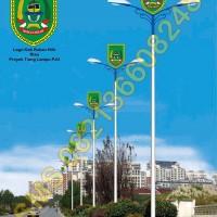 Tiang Lampu PJU Logo Kabupaten Rokan Hilir