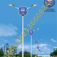 Tiang Lampu PJU Logo Kabupaten Wakatobi